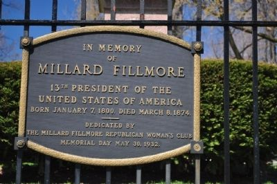 In Memory of Millard Filmore Marker image. Click for full size.