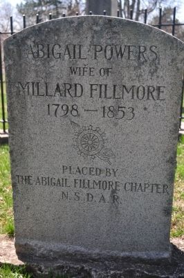 Abigail Powers Filmore headstone image. Click for full size.