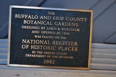 The Buffalo and Erie County Botanical Gardens Marker image. Click for full size.