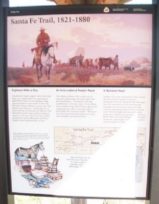 Santa Fe Trail, 1821 - 1880 Marker image. Click for full size.