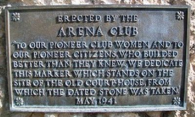 Pioneer Arena Club Women and Pioneer Settlers Marker image. Click for full size.