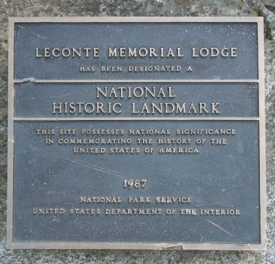 LeConte Memorial Lodge Marker image. Click for full size.