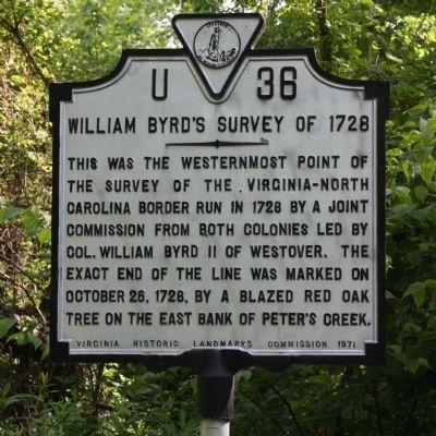 William Byrd's Survey of 1728 Marker image. Click for full size.