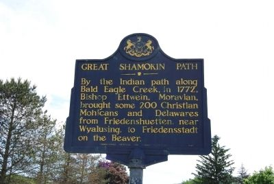 Great Shamokin Path Marker image. Click for full size.