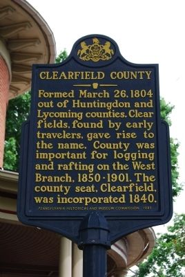 Clearfield County Marker image. Click for full size.