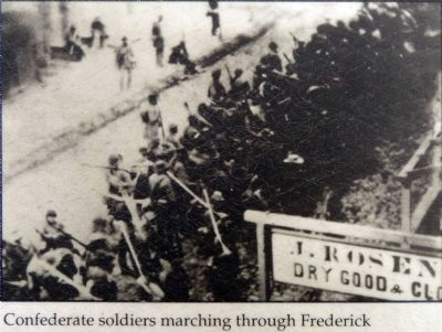 Confederate Soldiers March Through Frederick Photo, Click for full size