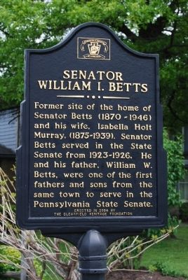 Senator William I. Betts Marker image. Click for full size.