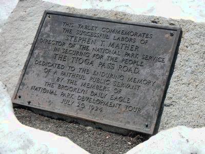Tioga Pass Road Historical Marker