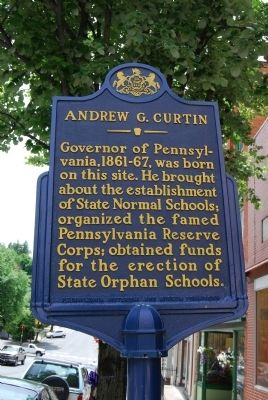 Andrew G. Curtin Marker image. Click for full size.