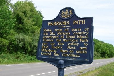 Warriors Path Marker image. Click for full size.