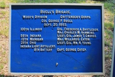 Buell's Brigade Marker image. Click for full size.