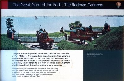 The Great Guns of the Fort... Marker image. Click for full size.