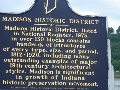 Madison Historic District Marker image. Click for full size.