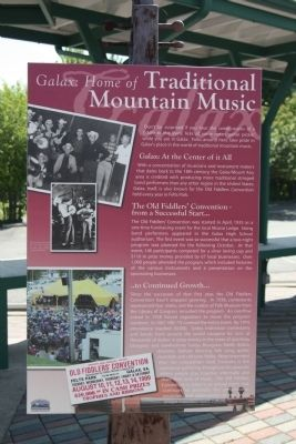 Galax: Home of Traditional Mountain Music Marker image. Click for full size.