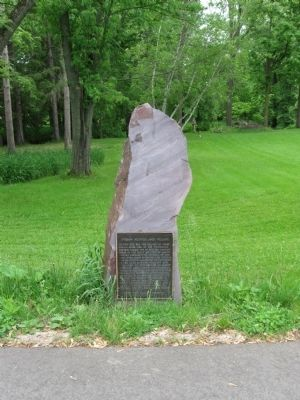 Indian Mounds and Village Marker image. Click for full size.
