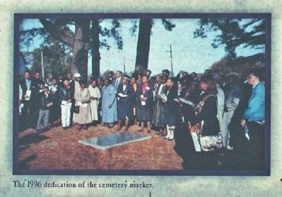 The 1996 dedication of the cemetery marker image. Click for full size.