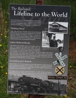 The Railroad: Lifeline to the World Marker image. Click for full size.