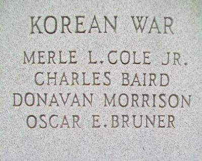 Seward County War Dead and Missing in Action Korean War Honor Roll image. Click for full size.