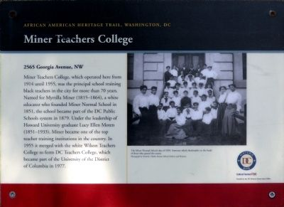 Miner Teachers College Marker image. Click for full size.