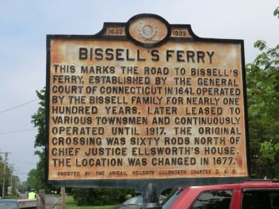 Bissell's Ferry Marker image. Click for full size.