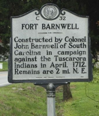 Fort Barnwell Marker image. Click for full size.