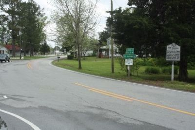 Fort Barnwell Marker looking south along NC Highway 55 image. Click for full size.