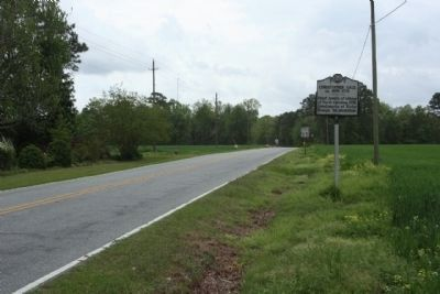 Christopher Gale Marker southbound North Carolina Route 92 image. Click for full size.