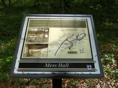 Mess Hall Marker image. Click for full size.