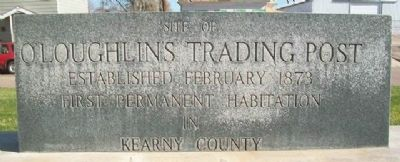 Site of O'Loughlin's Trading Post Marker image. Click for full size.