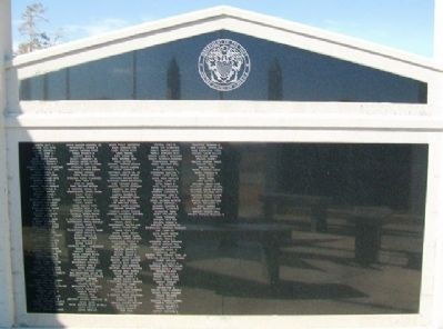 Veterans Memorial US Navy Honor Roll image. Click for full size.