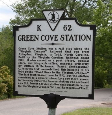 Green Cove Station Marker image. Click for full size.