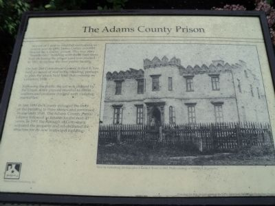 The Adams County Prison Marker image. Click for full size.