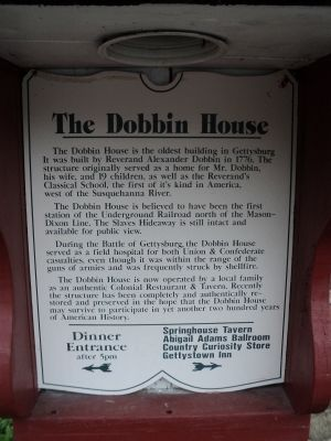 The Dobbin House Marker image. Click for full size.