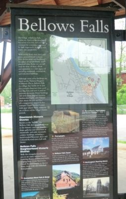 Bellows Falls Marker image. Click for full size.