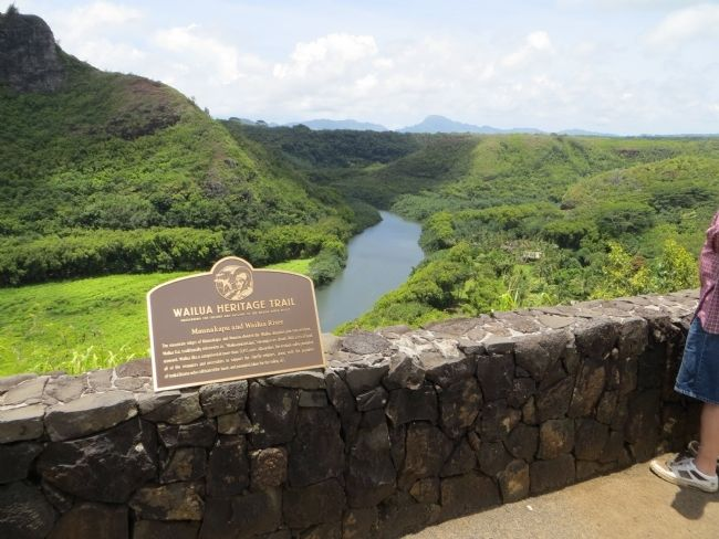 Maunakapu and Wailua River Marker image. Click for full size.