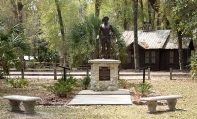 Civilian Conservation Corps Marker, left at the CCC Boy Memorial image. Click for full size.