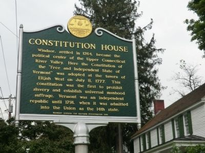 Constitution House Marker image. Click for full size.