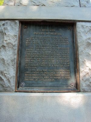 Cherokee Indian Memorial Marker image. Click for full size.