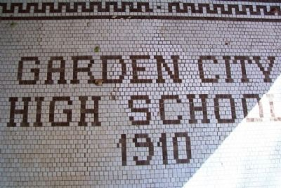Sabine Hall (Garden City High School) Entrance Tiles image. Click for full size.