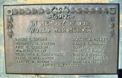 In Memory of Our World War Heroes Marker image. Click for full size.
