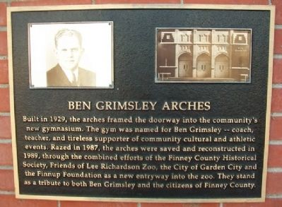Ben Grimsley Arches Marker image. Click for full size.