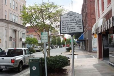 Daniel G. Fowle Marker along West Main Street, looking south image. Click for full size.