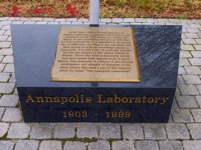 Annapolis Laboratory Marker image. Click for full size.