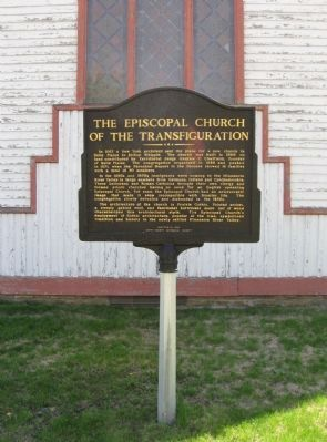 The Episcopal Church of the Transfiguration Marker image. Click for full size.