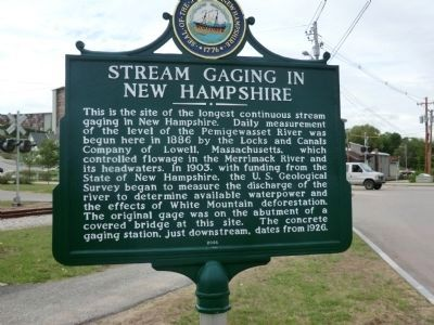 Stream Gaging in New Hampshire Marker image. Click for full size.