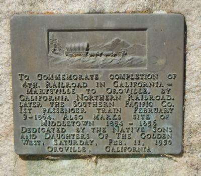 Completion of 4th Railorad in California Marker image. Click for full size.