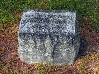 First Pohick Church marker<br> at Cranford Methodist Church image. Click for full size.