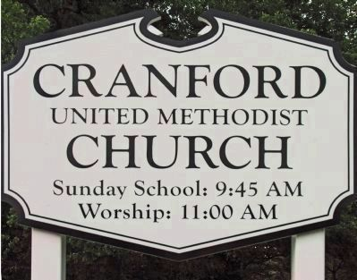 Cranford Methodist Church<br>Sign image. Click for full size.