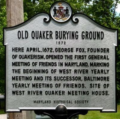 Old Quaker Burying Ground Historical Marker image. Click for full size.