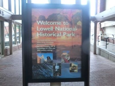 Welcome to Lowell National Historical Park Marker image. Click for full size.